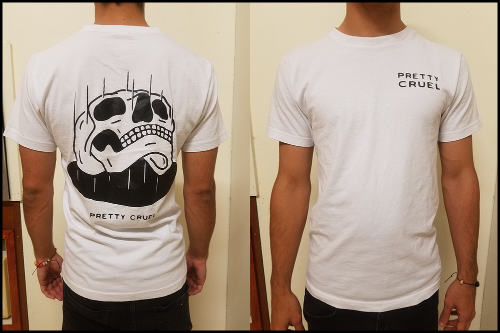 Image of Falling Skull shirt (white)