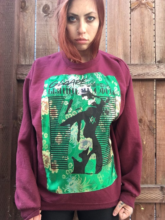 Image of BURGUNDY GREEN MANNEQUIN HOODIE (LARGE)