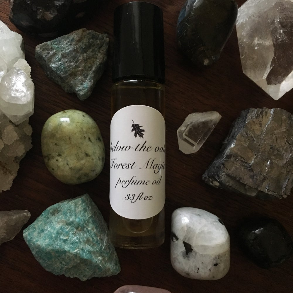 Image of Forest Magic, Feather, or Deadly Flora Organic Perfume Oils.