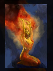 Image of Print- I am the Phoenix, watch me burn... 18x24