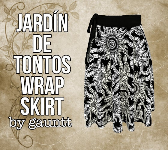 Image of Jardín de Tontos Wrap Skirt
