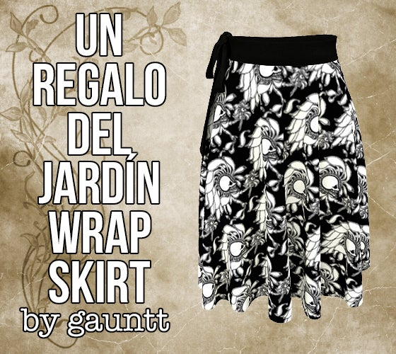 Image of Un Regalo del Jardín Wrap Skirt
