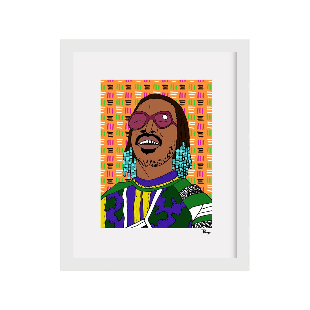 Image of Stevie Wonder Print