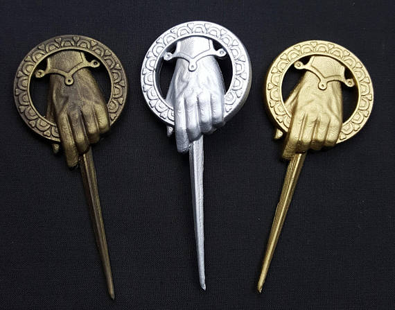 Image of Game of Thrones, Hand of the King / Queen, Badge, Brooch, Cosplay, Gift for him / her Best Man