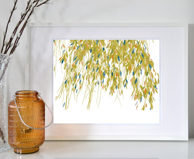 Image of Weeping willow leaves