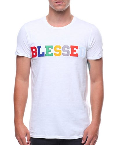 Image of Embroidered Blessed T-Shirt