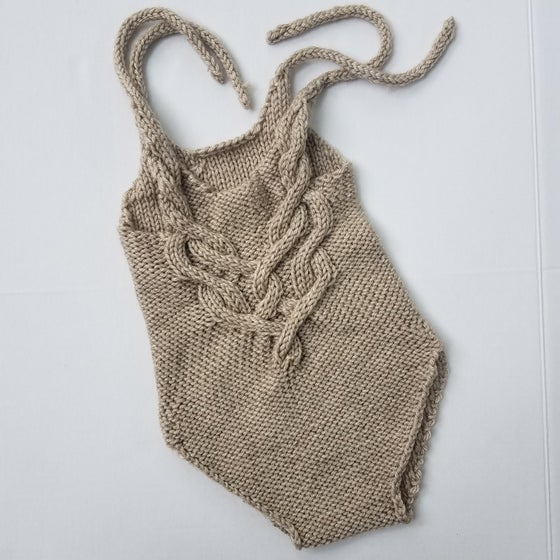 Image of 18-24 Month Brown Beatrix Romper