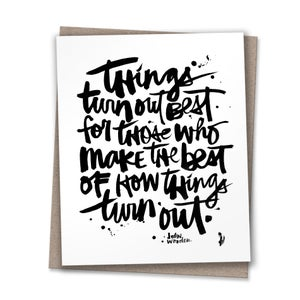 Image of THINGS TURN OUT #kbscript print