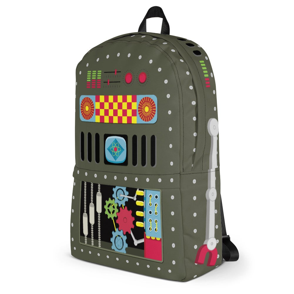 Image of 50s Vintage Tin Toy Style Robot Backpack