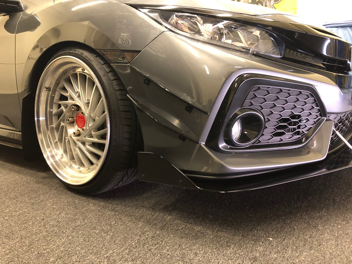 downforcesolutions   honda civic  gen double canards