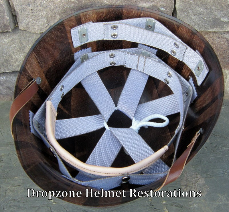 Image of WWII MSA M-1 Helmet Liner.  Rayon Webbing. Perfect for Early War US Army or USMC.