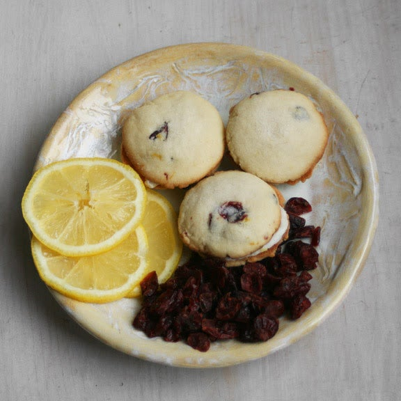 Image of Cranberry Lemon Sandwhich Cookies - ONE DOZEN