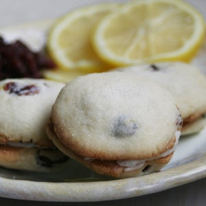 Image of Cranberry Lemon Sandwich Cookies - ONE DOZEN