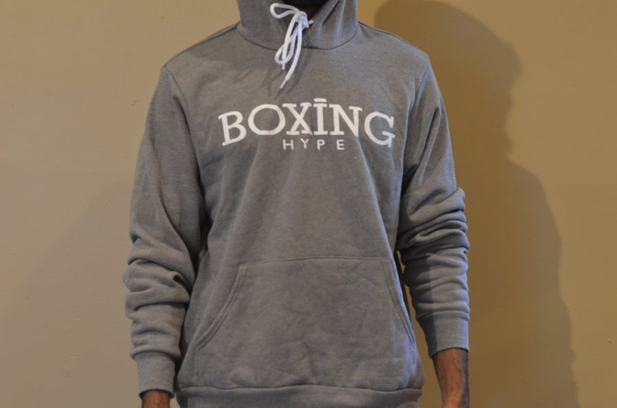 Image of Unisex Heather Gray BH logo hoodies