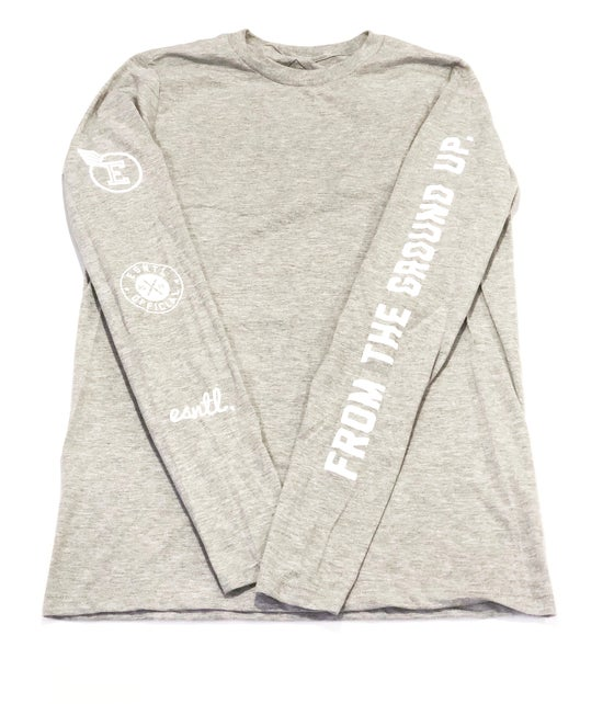 Image of ESNTL Long Sleeve Logo Tee / From the ground up (NEW)