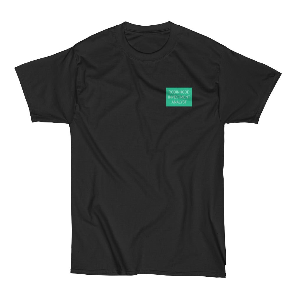Image of robinhood investment analyst tee (black)