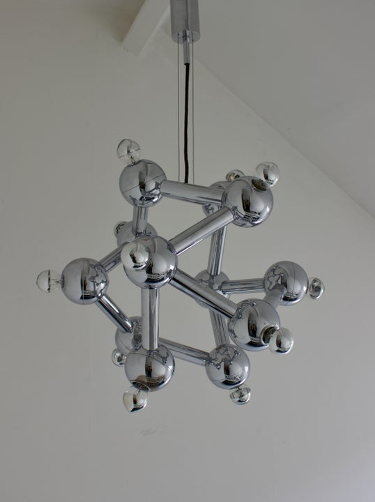 "Image of Atomic ""Sirius"" Chandelier by Kalmar, Austria 1970s"