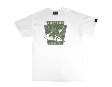 Image of BENNY GOLD - BENNY GOLD X PRIMITIVE EAGLE TEE (WHITE)