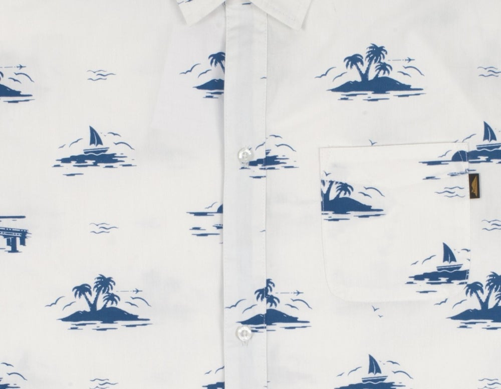 Image of BENNY GOLD - FLORIDA SUNSET SHIRT (WHITE)