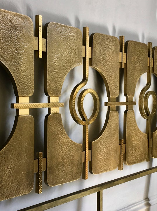 Image of Sculptural Brass Headboard by Frigerio, 1960s