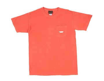 Image of BENNY GOLD - GARMENT DYED POCKET TEE (CORAL)