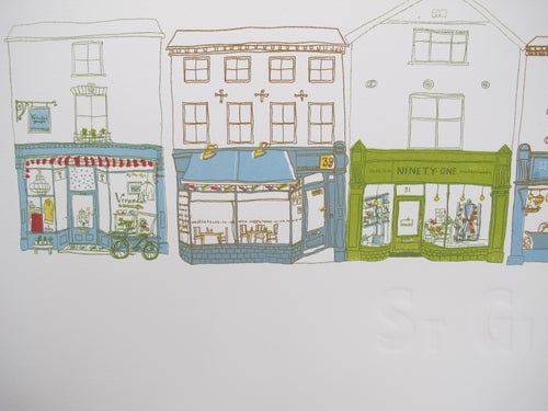 Image of 'St Giles' Screen Print Part of the 'Norwich a fine city' collection ( limited edition 20 prints )