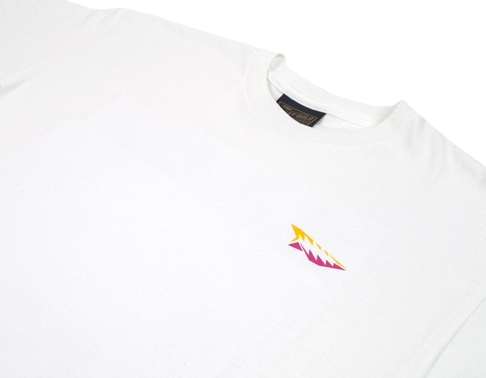 Image of BENNY GOLD - LEVI SPIRAL TEE (WHITE)