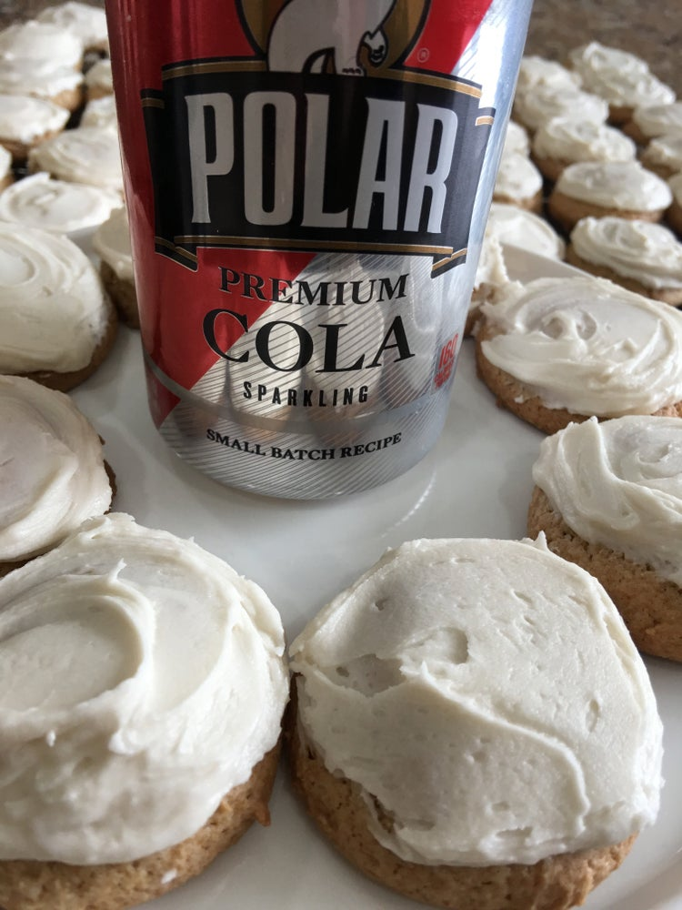 Image of Cola Cookies with a Cola Glaze - TWO DOZEN
