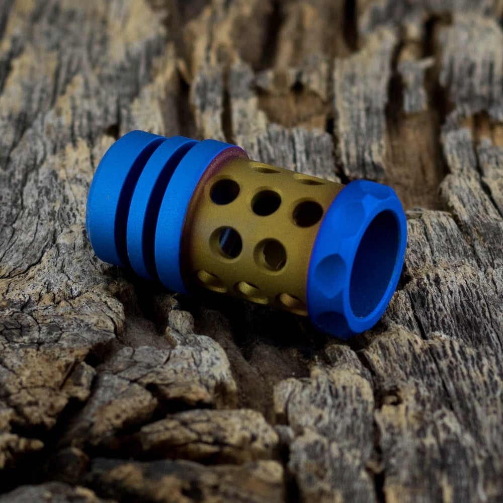 Image of Barrel Muzzle Brake Bead - Bronze & Blue