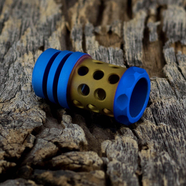 Image of Barrel Muzzle Brake Bead - Bronze & Blue
