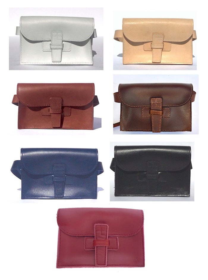 Image of BELT SAC - A small Clutch with a removable Belt in assorted colors