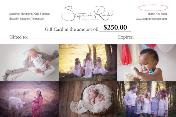 Image of $250 Gift Card (Maternity / Family / Christmas)