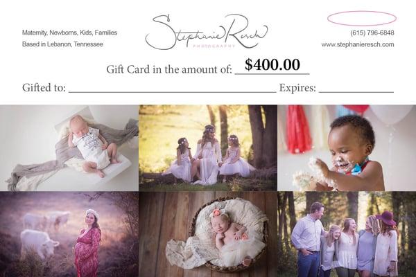Image of $400 Gift Card (Newborn)