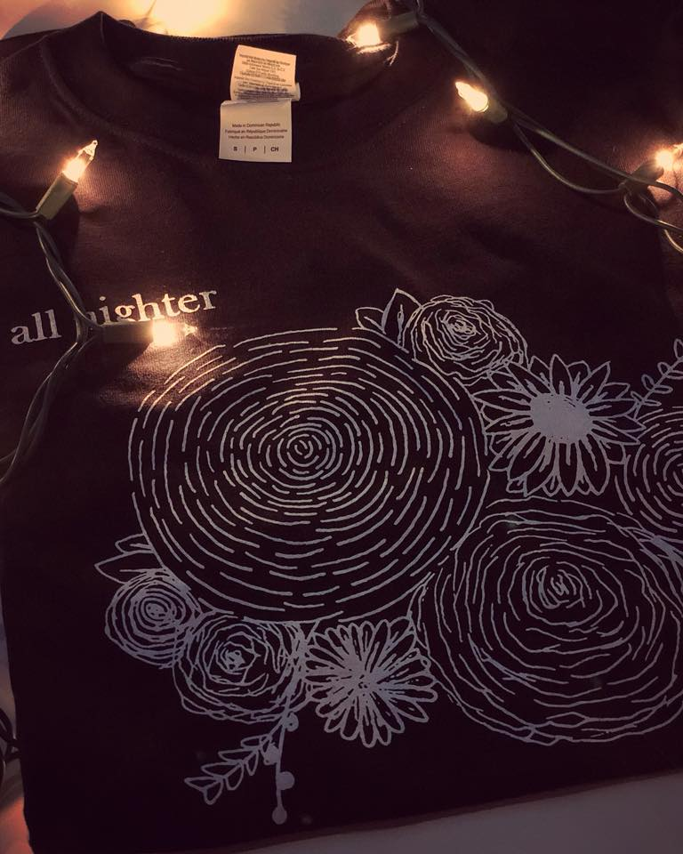 Image of Black Flower T-Shirt