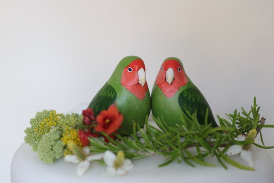 Image of Custom Wedding Cake Topper Birds
