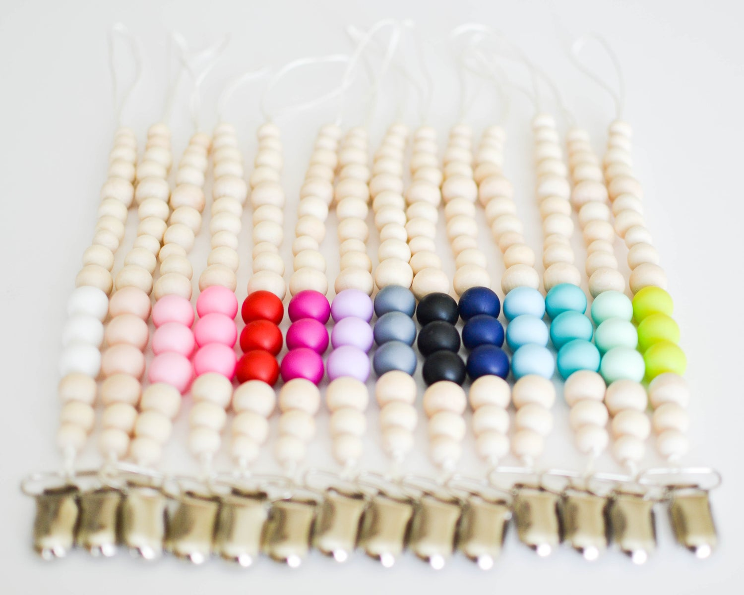 Image of Beaded Binky Clips