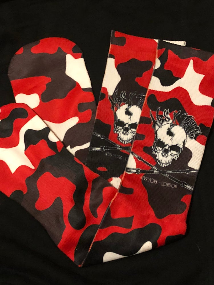 Image of Street Camo Skull Socks