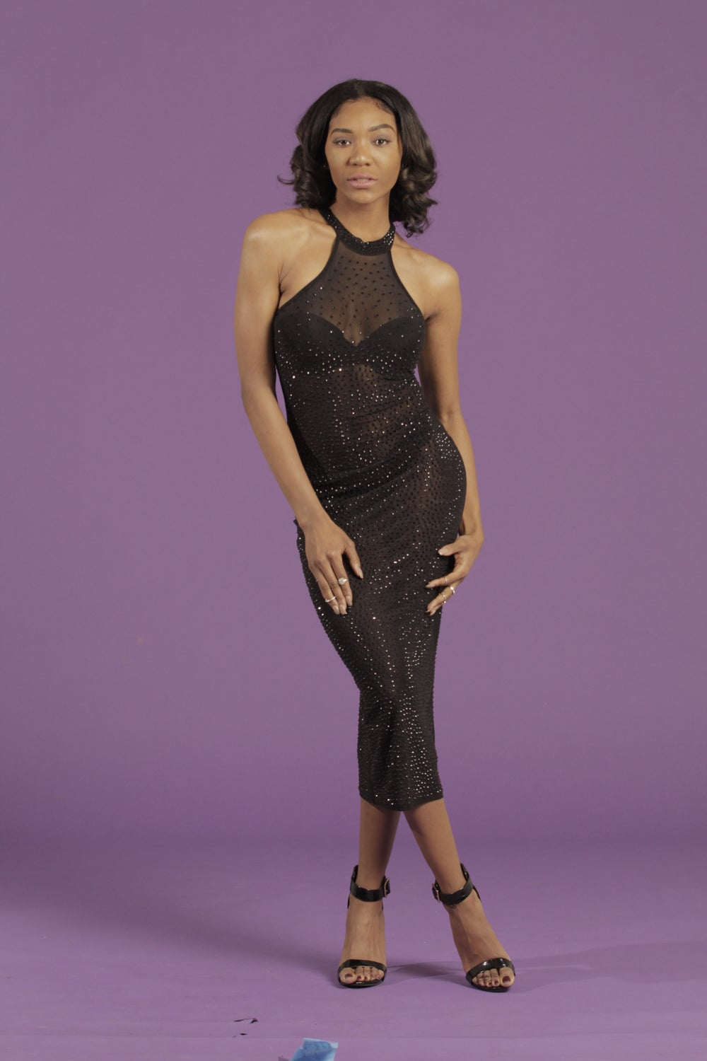 Image of sequin mesh dress