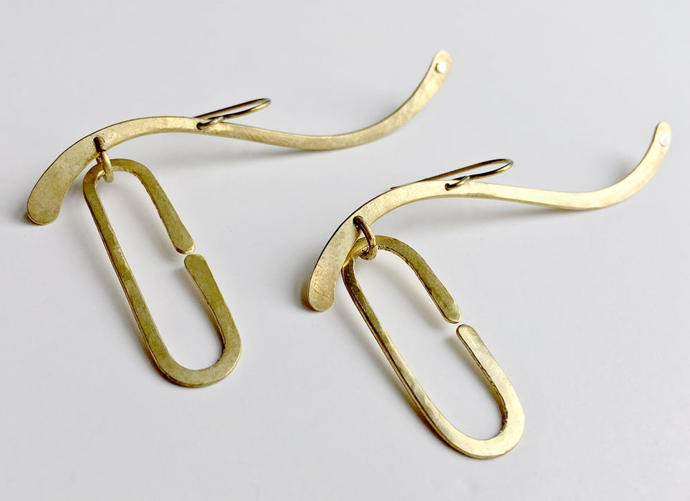 """Image of Link & Phase Earrings, from the """"Fluid Dynamics Apply to Human Behavior More than You Think"""" series"""