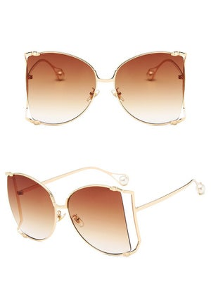 Image of Square Sunglasses with Pearl