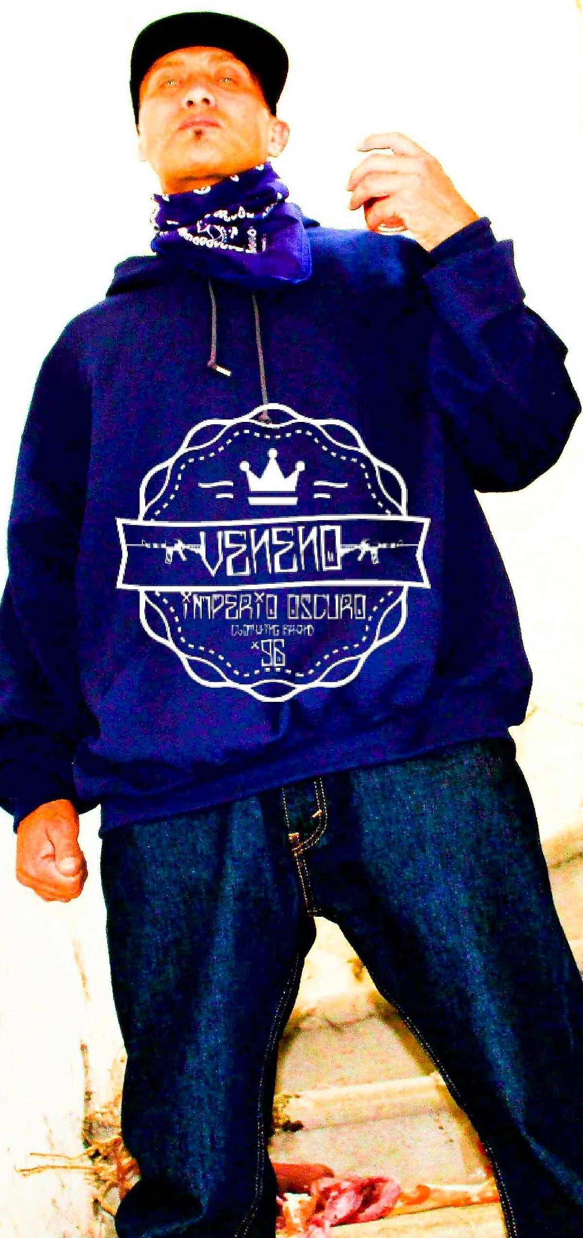 Image of Veneno Long Sleeve Tshirt Navy Blue