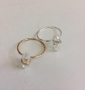 Image of Crystal Point Ring - Gold