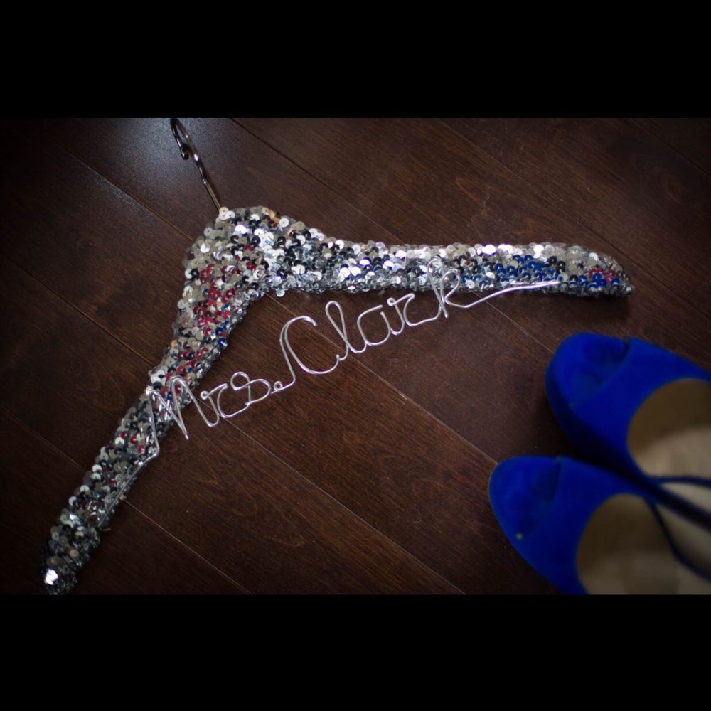 Image of Personalized Sequin Hanger