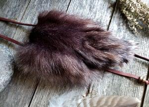 Image of Black Wolf Paw Totem Bag