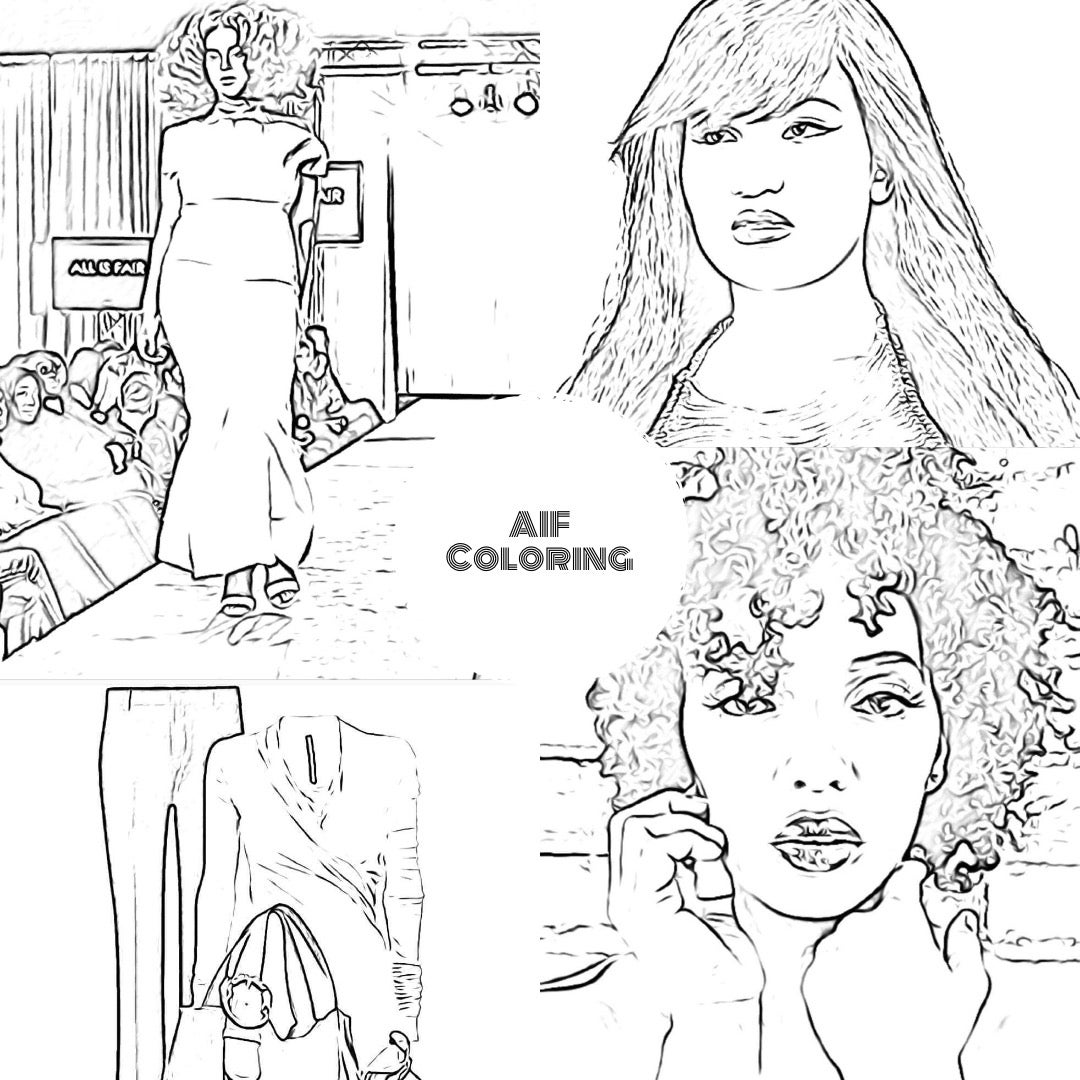 Image of The All is Fair in Love and Fashion Coloring Book