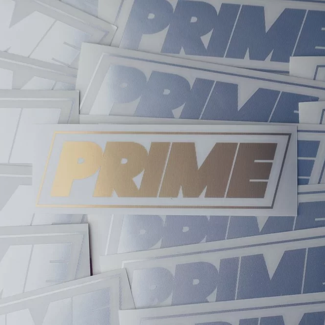 Image of PRIME LOGO DECAL GOLD
