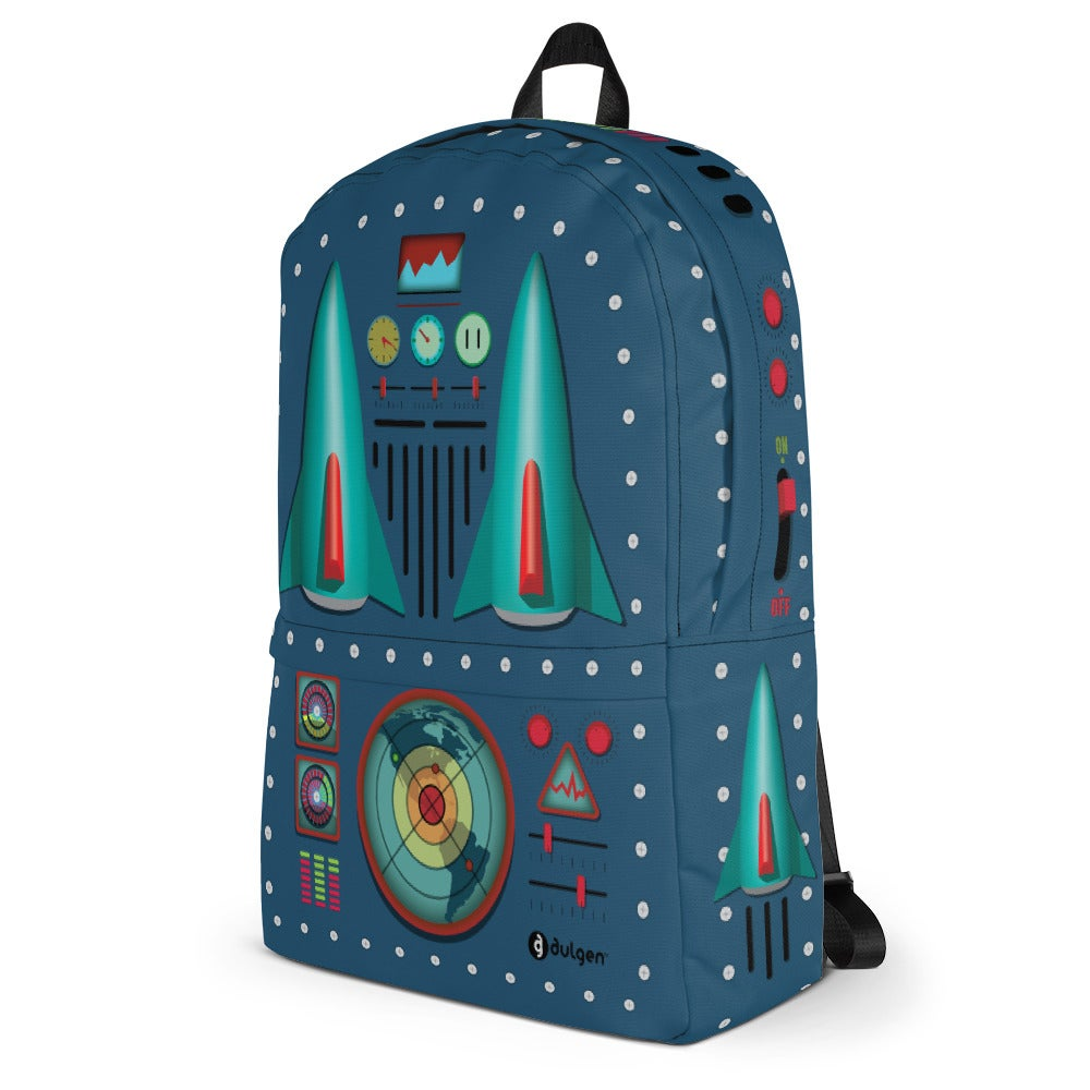 Image of 50s Vintage Tin Toy Style Rocket Jet Backpack