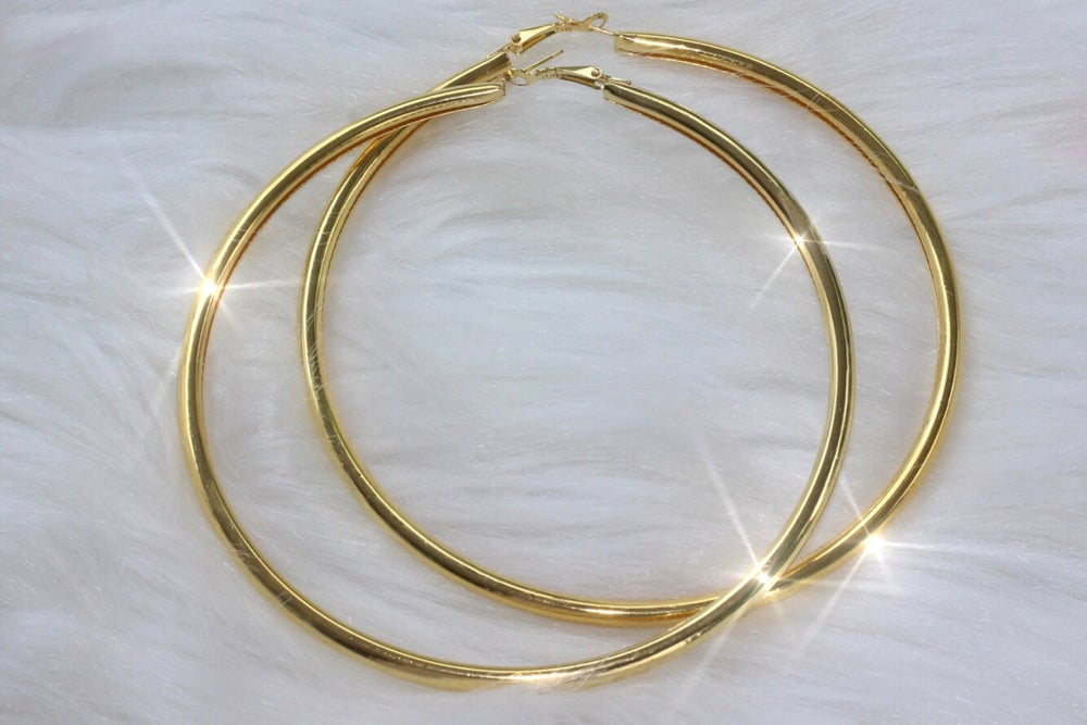 Image of Gold Thick Oversized Daily Hoops