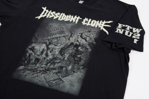 "Image of DISSIDENT CLONE ""CIVILIZED"" BLACK SHIRT"