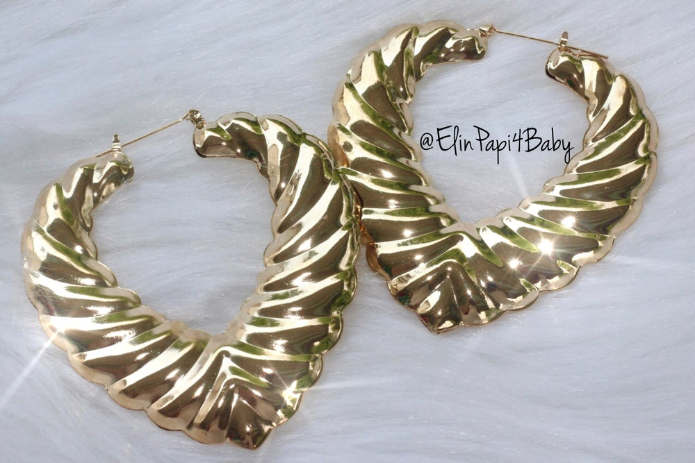 Image of Dope Heart Bamboo Earrings